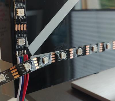 Den LED-Streifen etwas weiterführen um die optimale Abschnittstelle zu bestimmen.